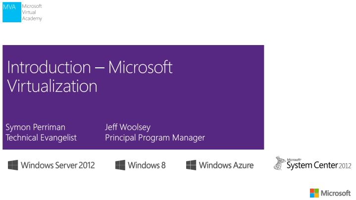 introduction microsoft virtualization n.