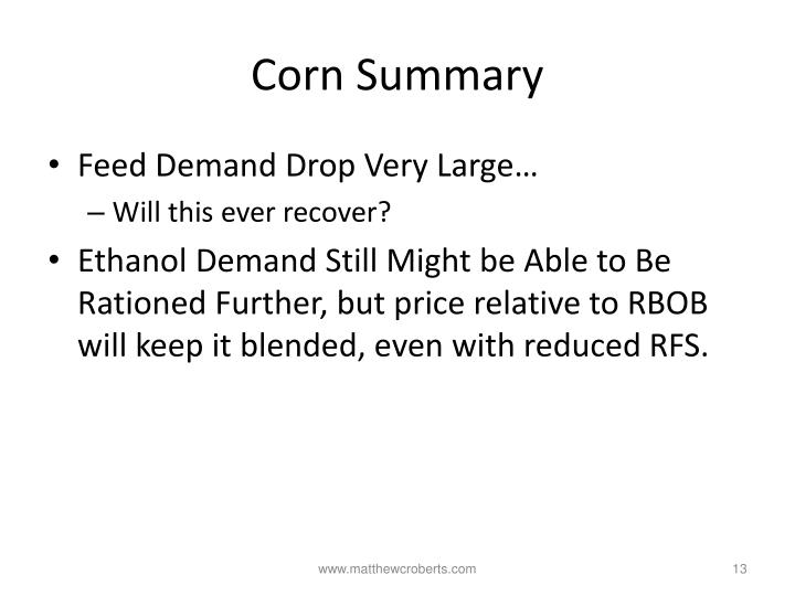 Corn Summary
