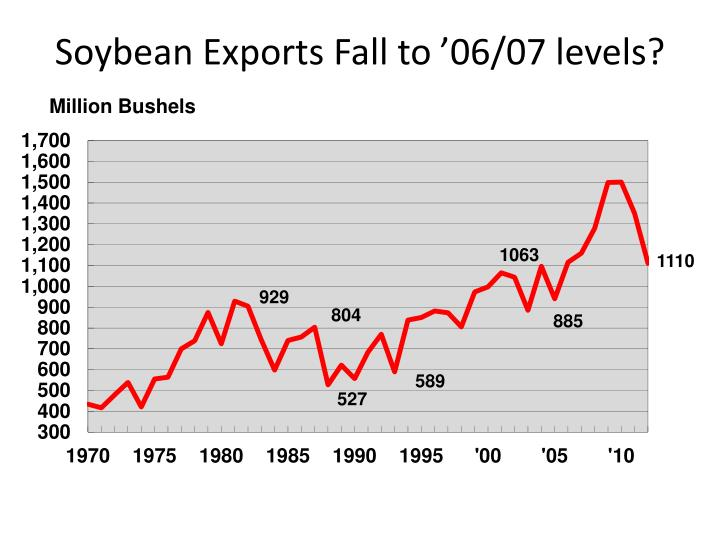Soybean Exports Fall