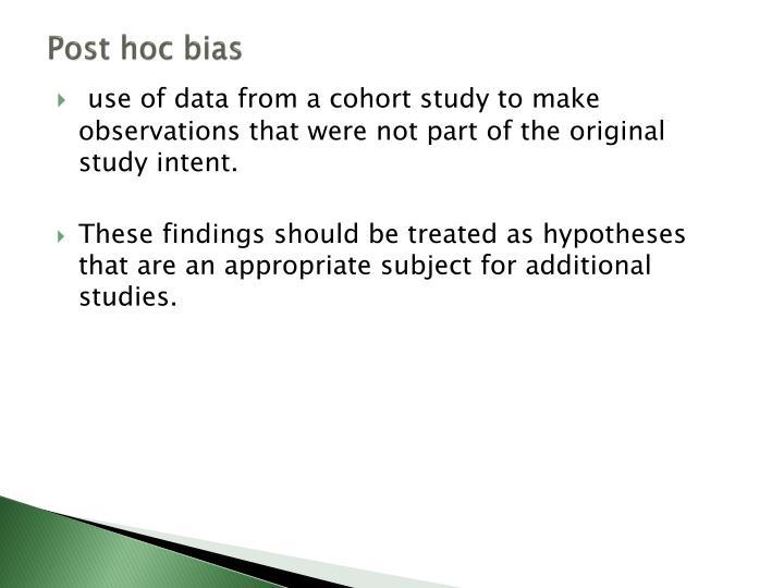 Post hoc bias