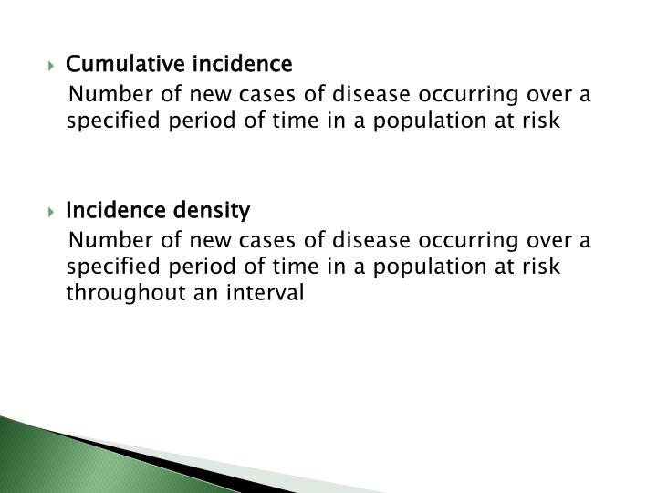 Cumulative incidence