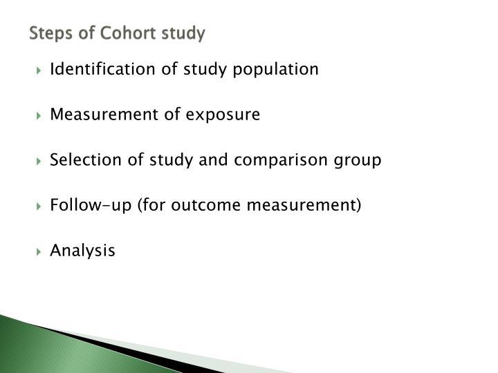 Steps of Cohort study