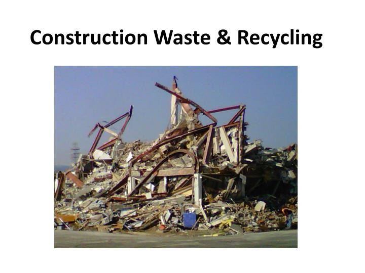 construction waste thesis Krause provides construction waste management and construction waste recycling systems to solve a wide range of solid waste and other recycling problems.