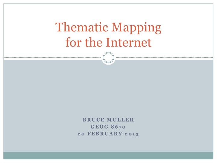thematic mapping for the internet n.