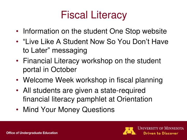 Fiscal Literacy