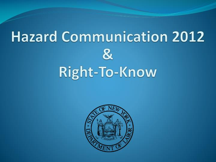 hazard communication 2012 right to know n.