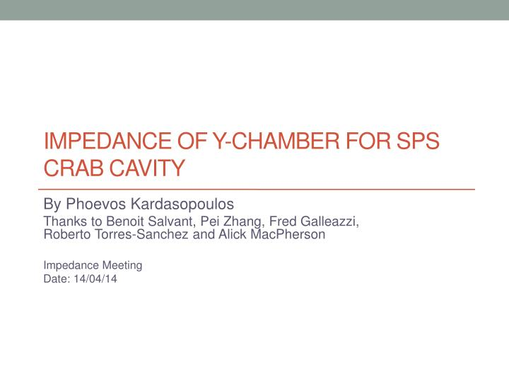 impedance of y chamber for sps crab cavity n.