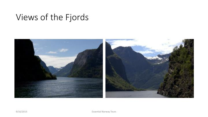 Views of the Fjords