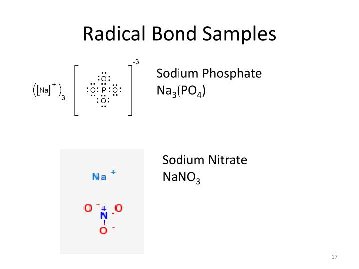 Radical Bond Samples