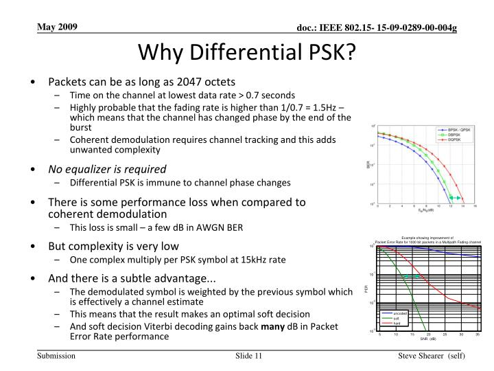 Why Differential PSK?