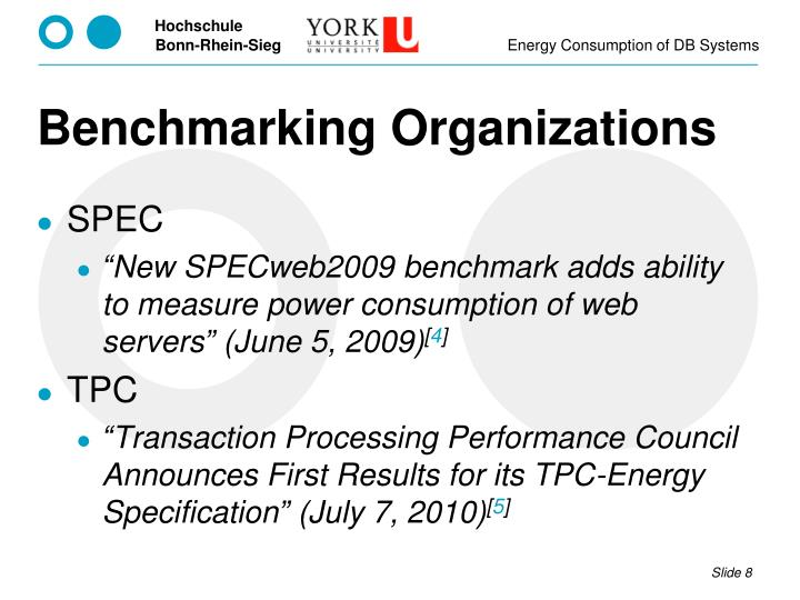 Benchmarking Organizations