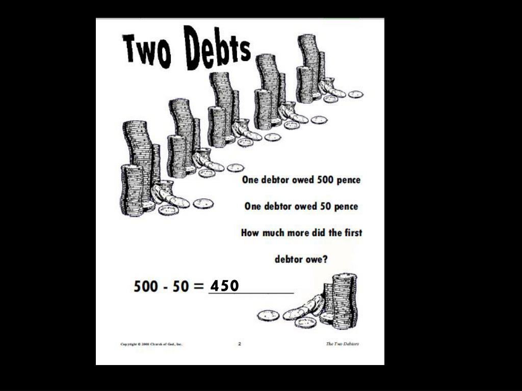 PPT - Parable of 2 Debtors - Woman Washed Jesus Feet