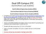 dual off campus stc dual enrollment 2 year academies