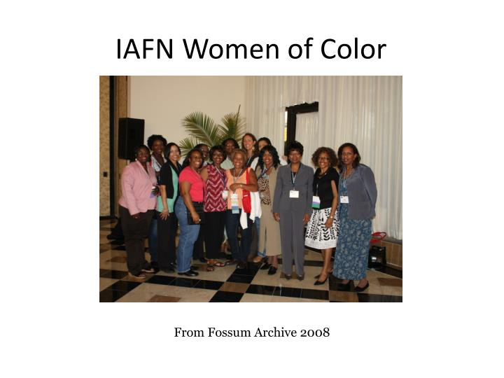IAFN Women of Color