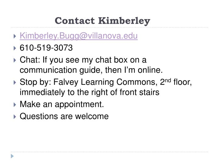 Contact Kimberley