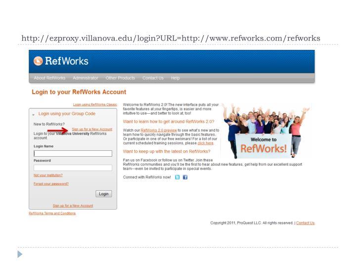 http://ezproxy.villanova.edu/login?URL=http://www.refworks.com/refworks