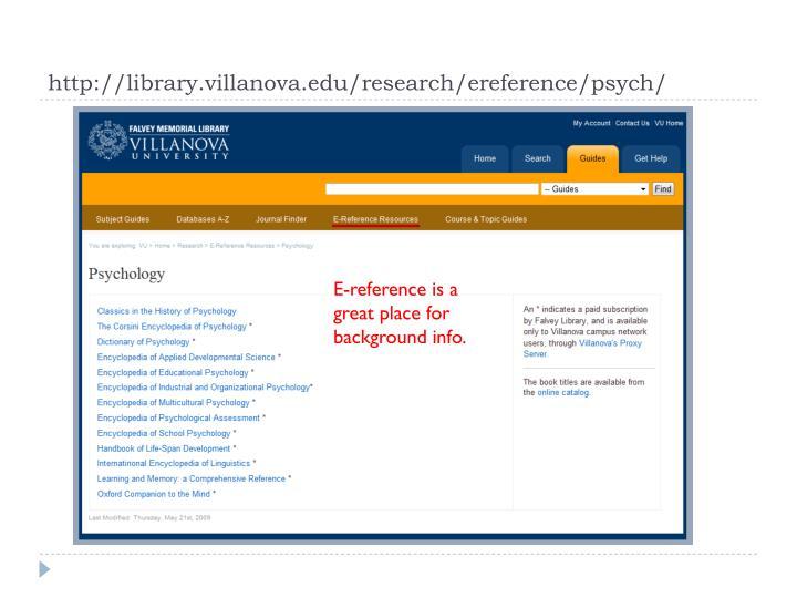http://library.villanova.edu/research/ereference/psych/
