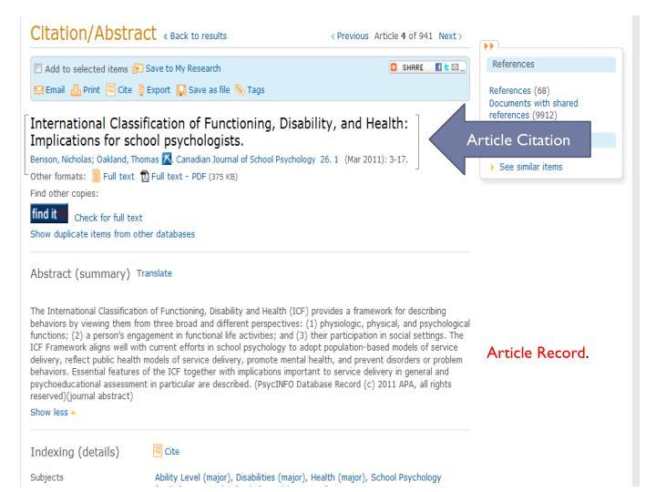 Article Citation