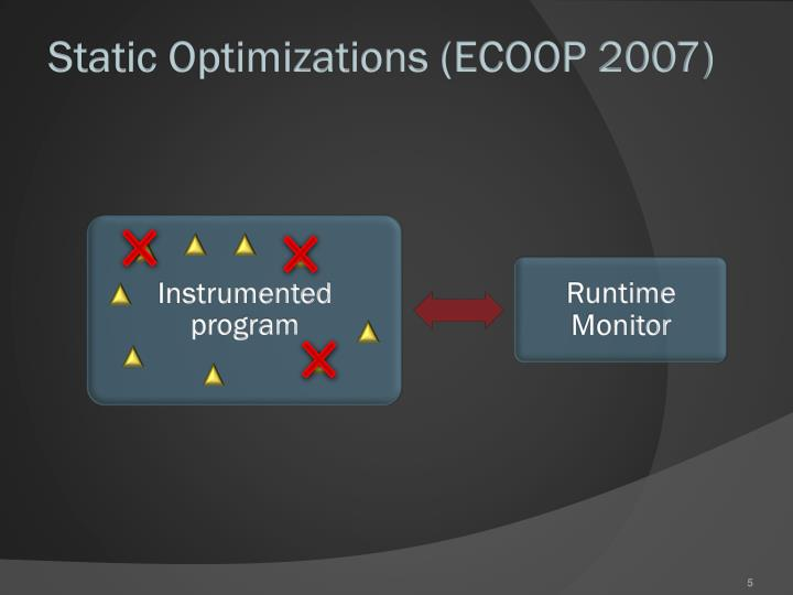 Static Optimizations (ECOOP 2007)