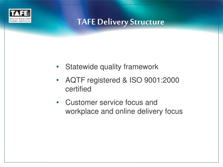 TAFE Delivery Structure