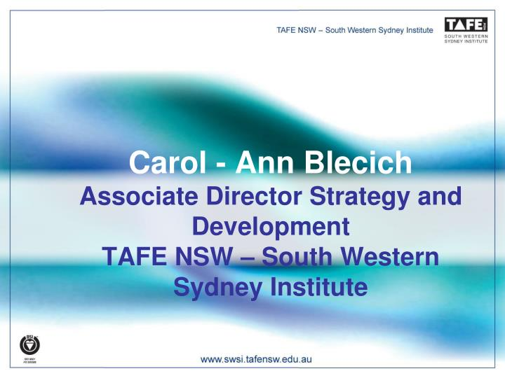 Carol - Ann Blecich