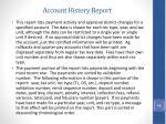 account history report