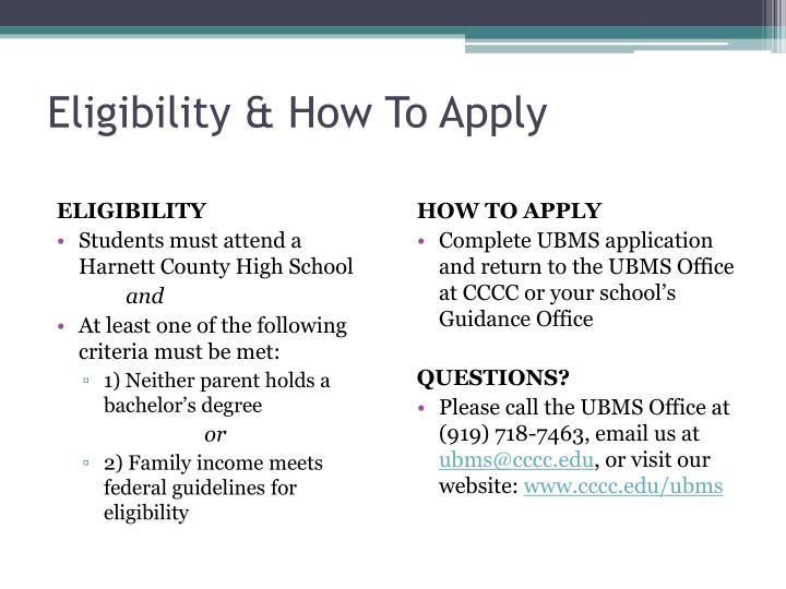 Eligibility & How To Apply