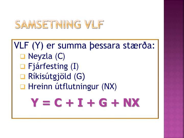 Samsetning VLF
