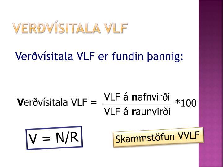 Verðvísitala VLF