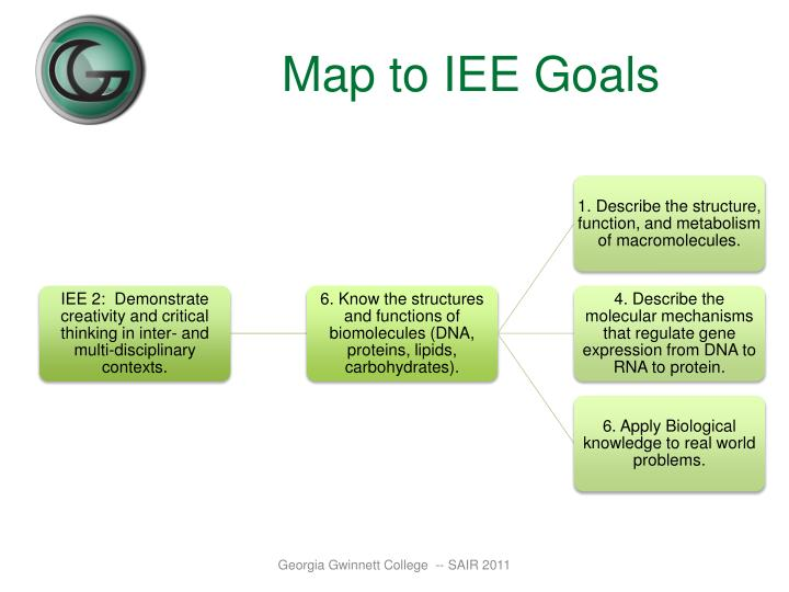 Map to IEE Goals
