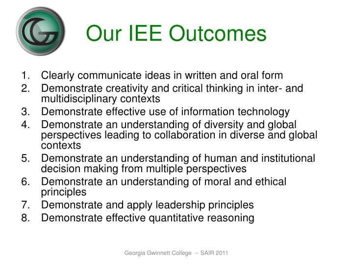 Our IEE Outcomes