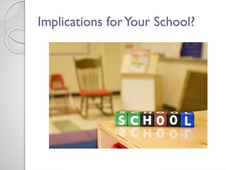 Implications for Your School?