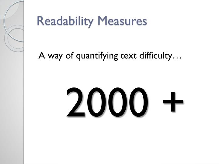 Readability Measures
