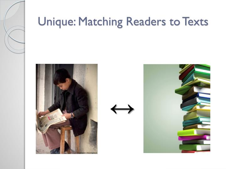 Unique: Matching Readers to Texts
