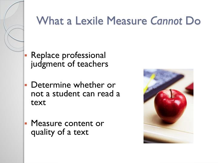 What a Lexile Measure