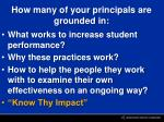 how many of your principals are grounded in