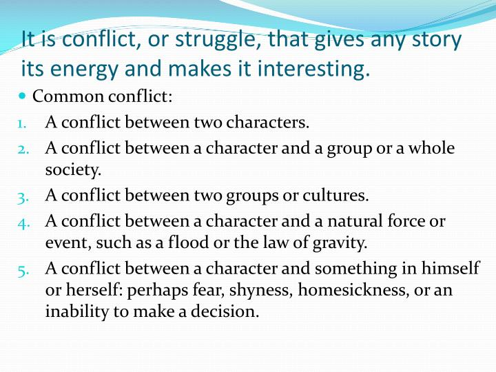 conflicts and struggles