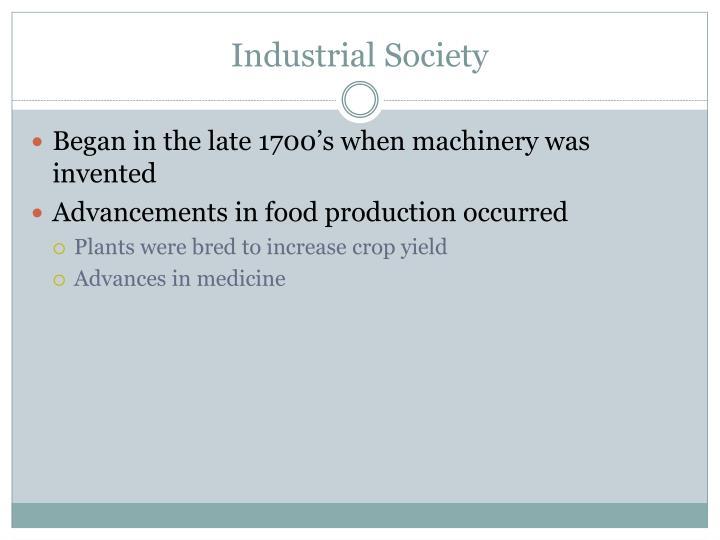 Industrial Society