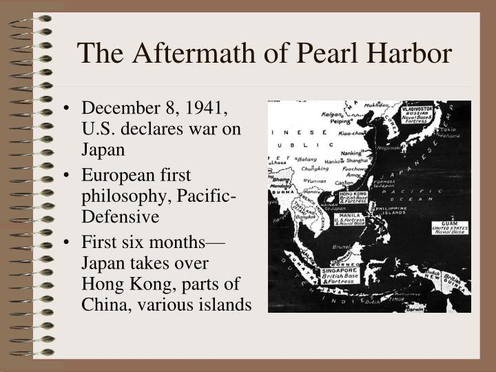 The aftermath of pearl harbor