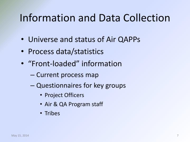 Information and Data Collection