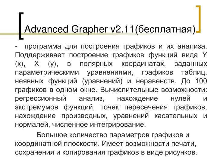 Advanced Grapher v2.11