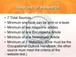 sources for research