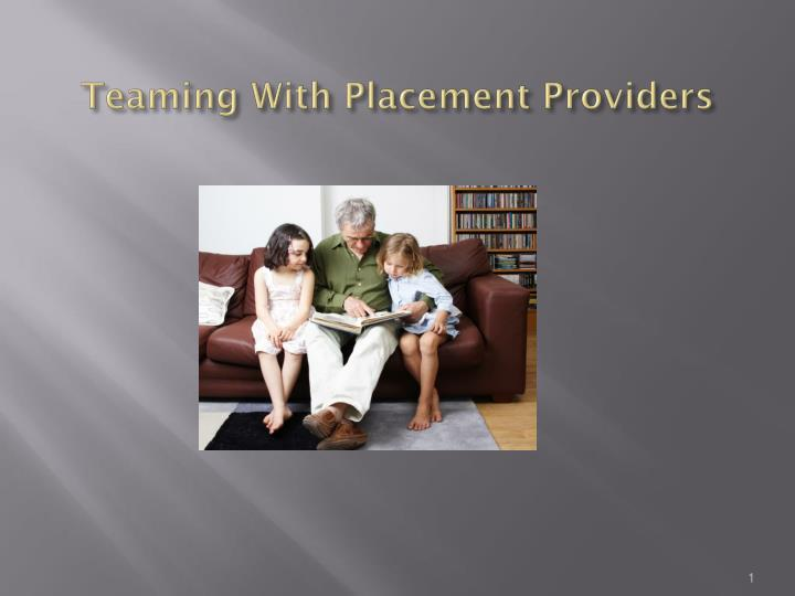 teaming with placement providers n.