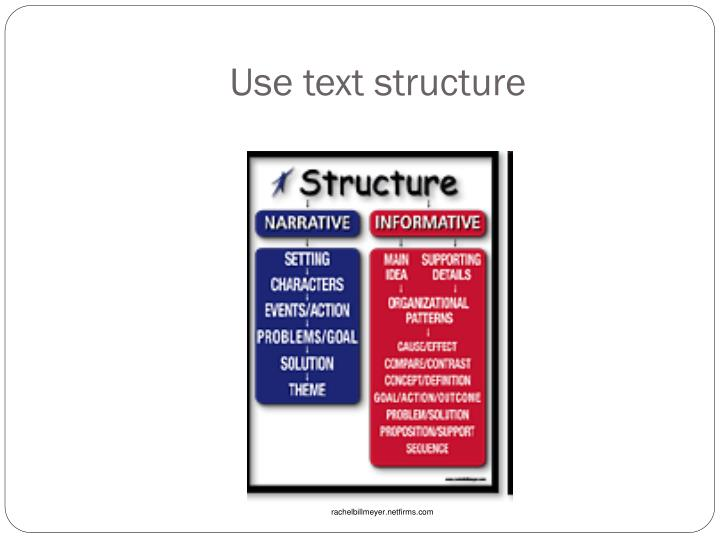 Use text structure