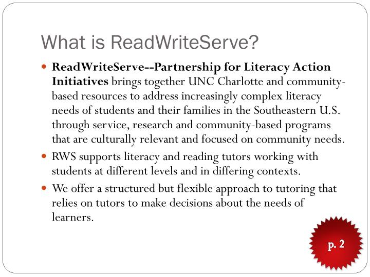What is readwriteserve