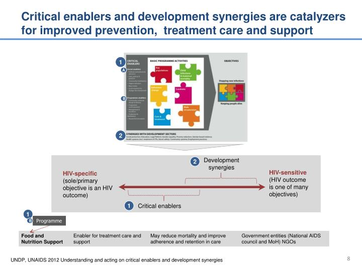Critical enablers and development synergies are catalyzers for improved prevention,  treatment care and support