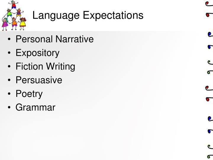 Language Expectations