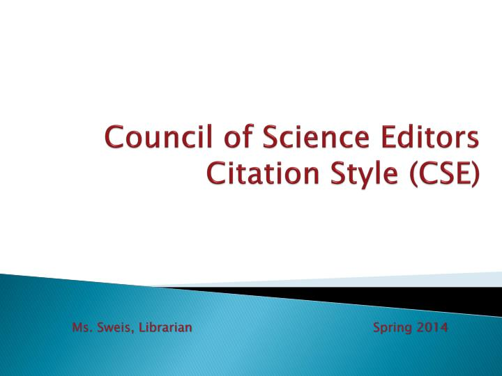 council of science editors citation style cse n.