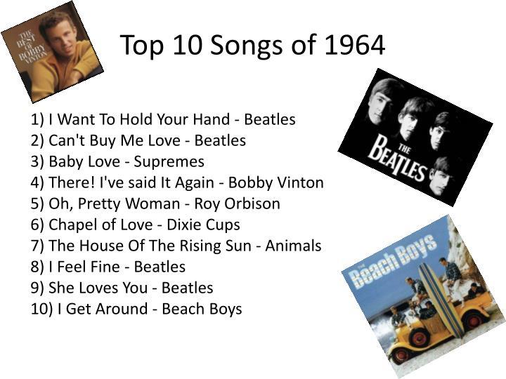 Top 10 songs of 1964