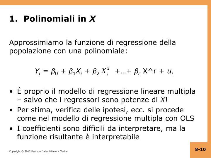 1.  Polinomiali in